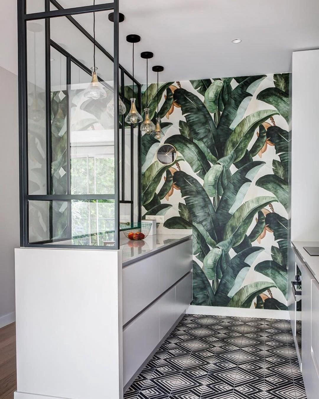 Top 19 des plus beaux papiers peints  Cuisine tropicale, Idée