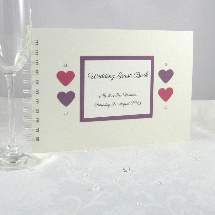 Personalised Wedding Guest Books Handmade in