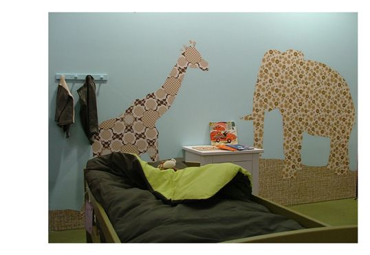 Giraffe And Elephant Wallpapers As Decoration In Childrenu0027s Rooms! Vintage  Wallpaper Silhouettes By Inke Heiland