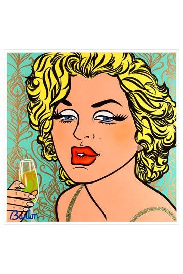 Funky Pop Art from Oliver Gal Gallery    Oliver Gal 'Diosa' Canvas Art Print