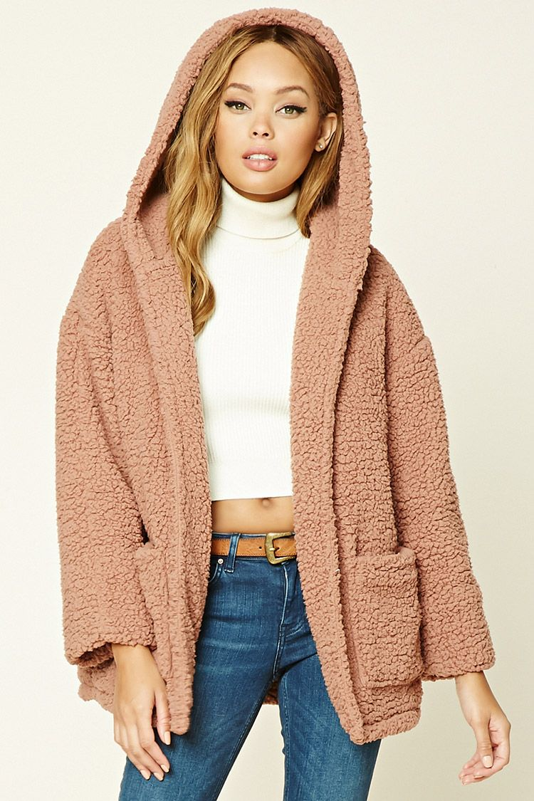 f732d13859 Faux Fur Hooded Jacket | Forever 21 - 2000198080 | fashionista in ...