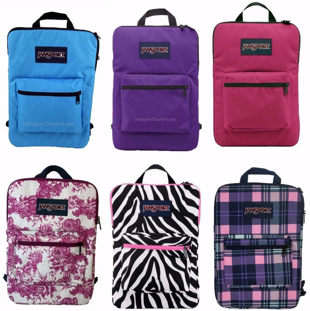 New Jansport Superbreak Ipad Tablet 15 Laptop Sleeve Backpack Bag Ebay Backpack Bags Bags Jansport
