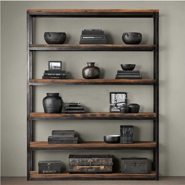 fran ais loft am ricains r tro biblioth que tag res. Black Bedroom Furniture Sets. Home Design Ideas