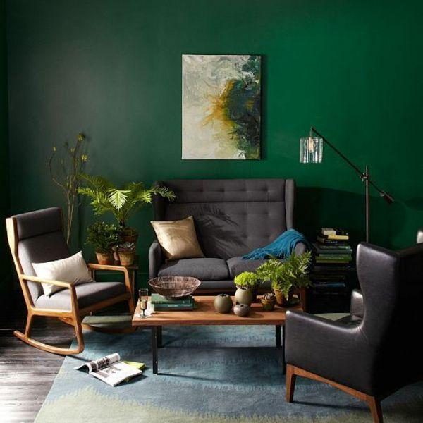 grune wandfarbe in gra 1 4 n farbideen wandgestaltung sessel sofa mehr wandfarben beispiele