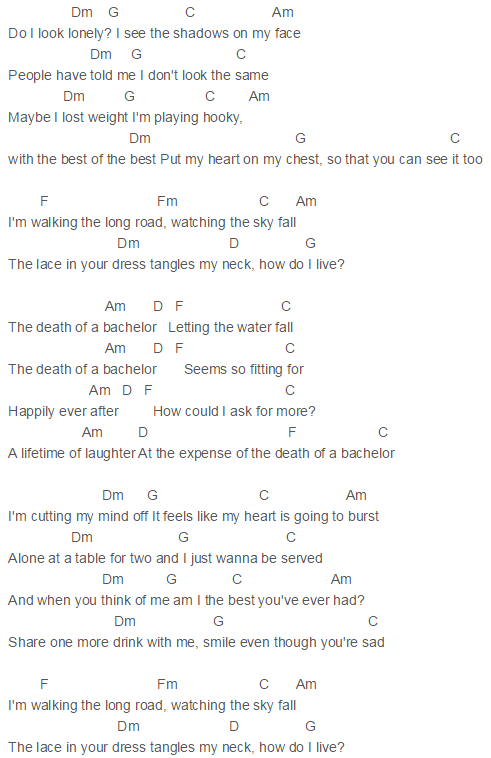 Death Of A Bachelor Chords Panic At The Disco Uke Music