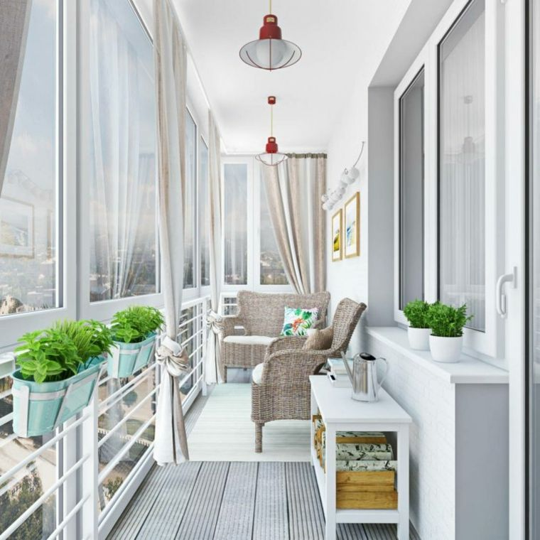 Balcones cerrados ganar un ambiente exteriores - Decoracion balcones pequenos ...