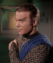 Kirk posing as a Romulan