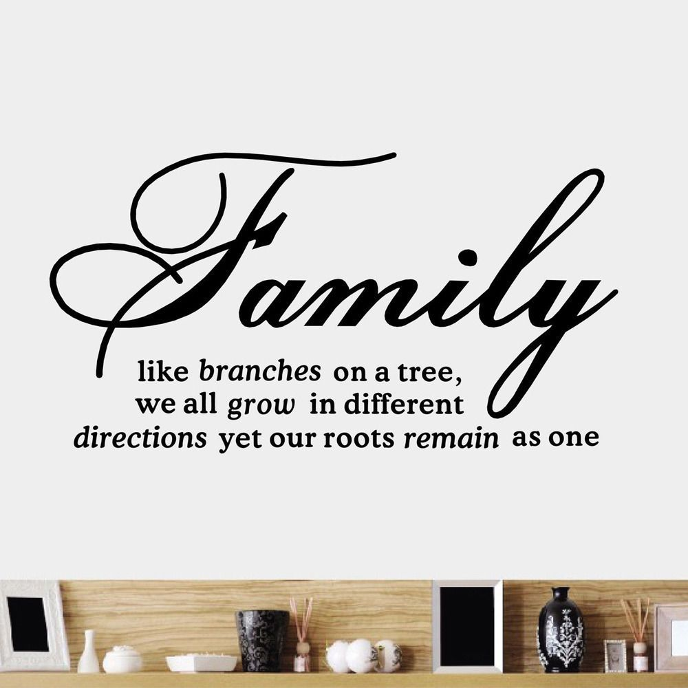 Diy family tree together quote vinyl wall sticker decal home decor