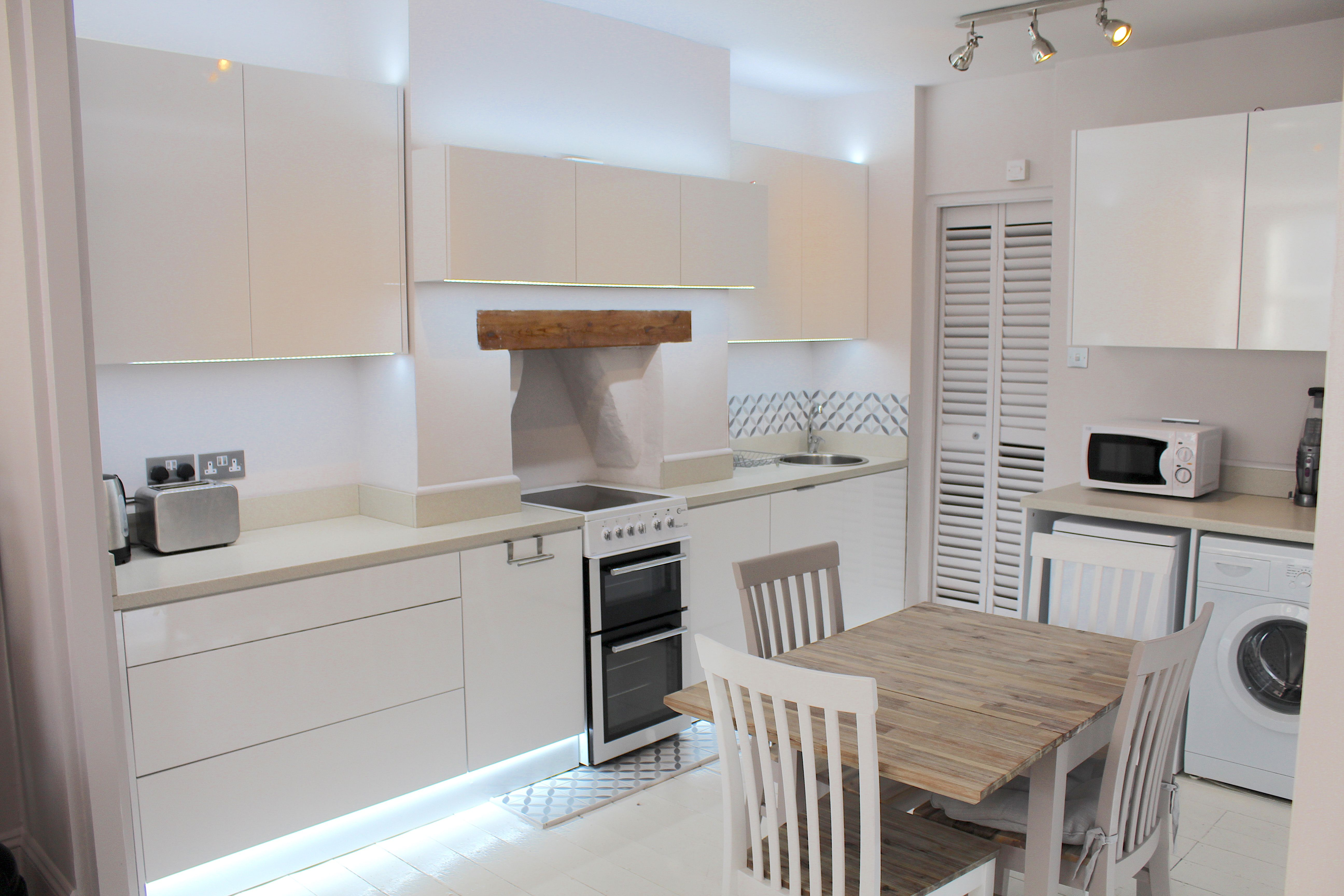 contemporary white kitchen ideas sleek lines with this white gloss rh pinterest com