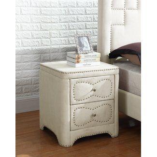 Best Quality Furniture 2 Drawer Nightstand Furniture 400 x 300