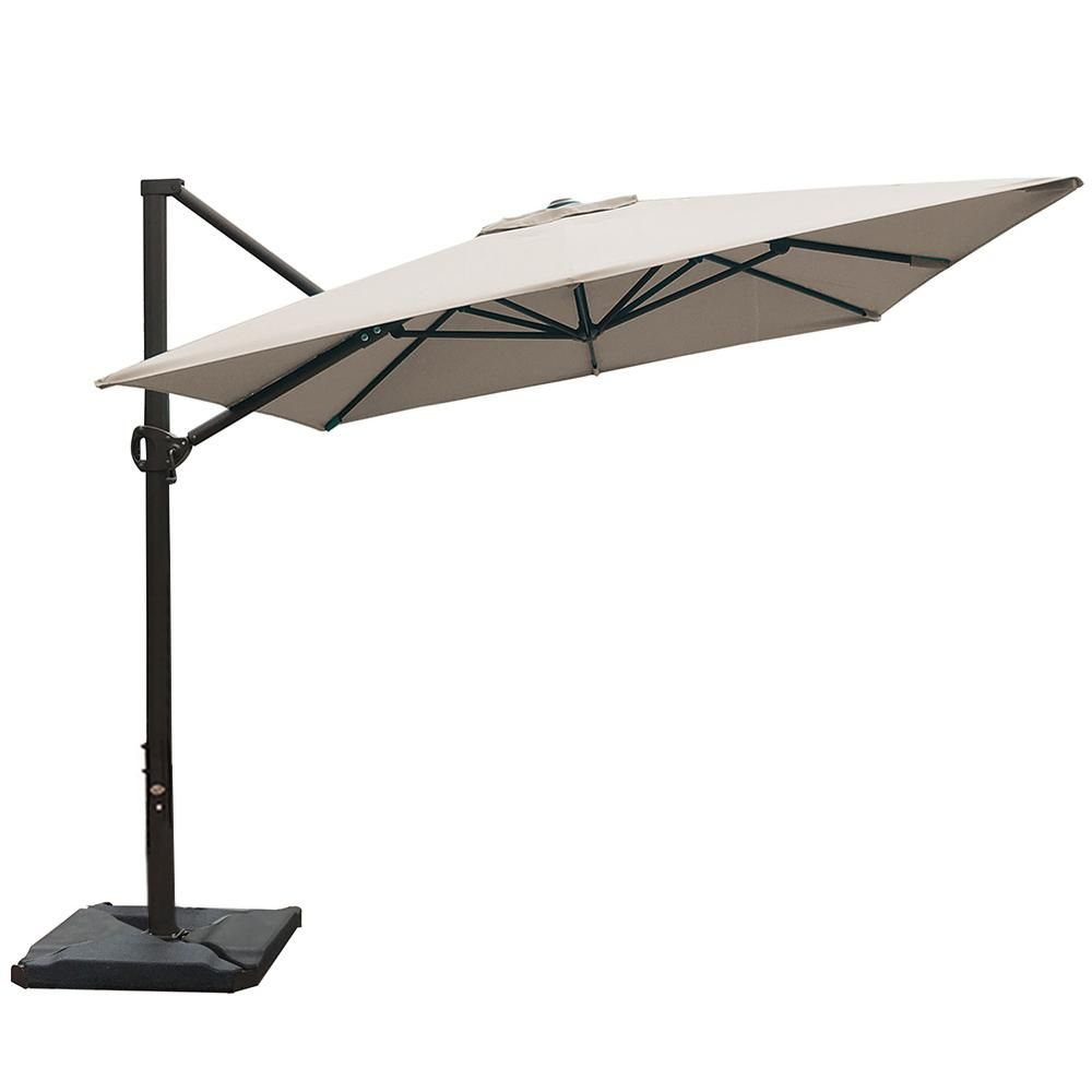 Abba Patio 8 Ft X 10 Ft Rectangular Cantilever Push Tilt Patio Umbrella In Sand Apnrc810sc The Home Depot In 2020 Patio Umbrella Patio Cantilever Umbrella