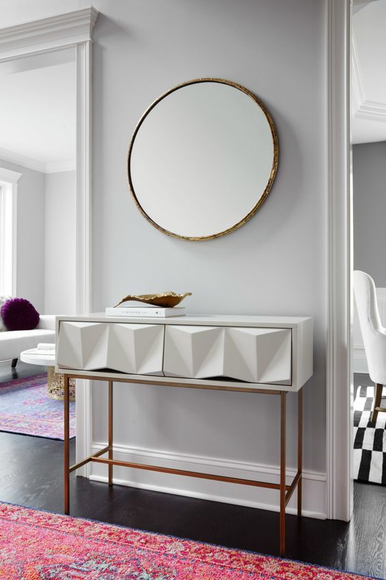 10 stunning gold and white console table designs living room rh pinterest com