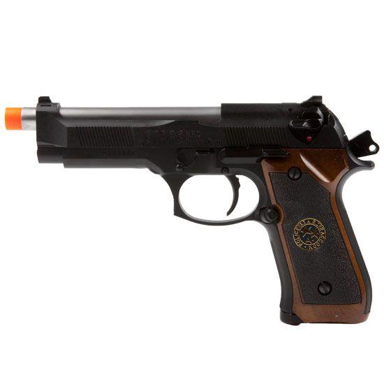 WE-Tech Resident Evil Samurai Edge Black FPS-290 Blowback Green Gas Airsoft Pistol