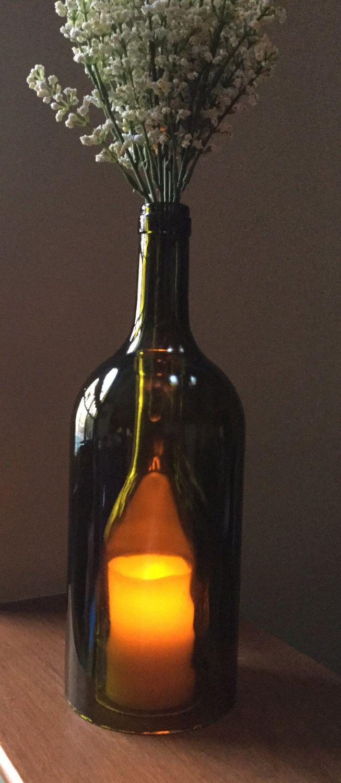 Large wine bottle led light double bottle