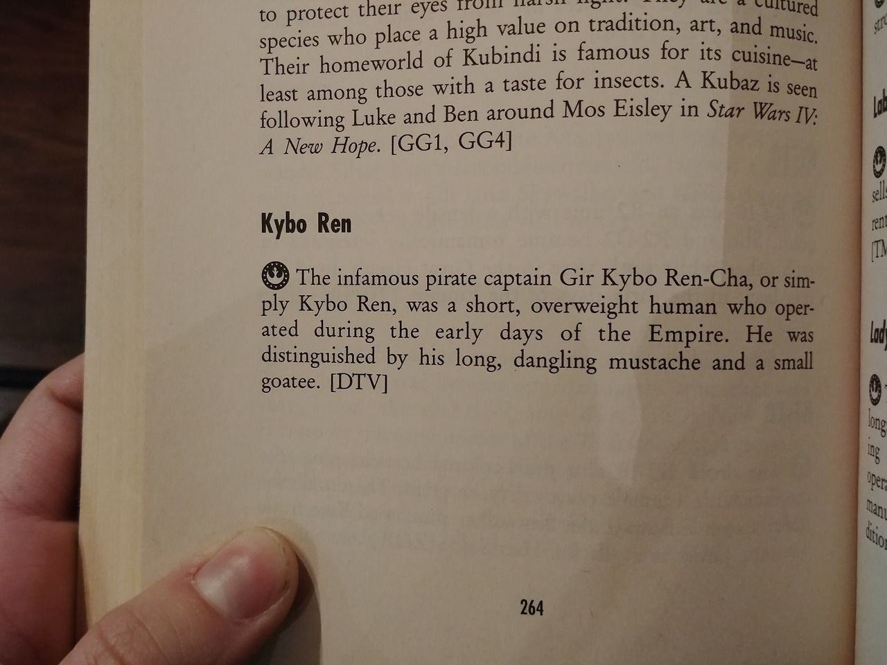 """From the 1994 """"A Guide to the Star Wars Universe"""" second edition, by"""