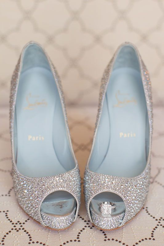 Awesome Christian Louboutin Wedding Blue Sole Shoes Thisbe Grace Photography U003c  Www.thisbegrace.com/