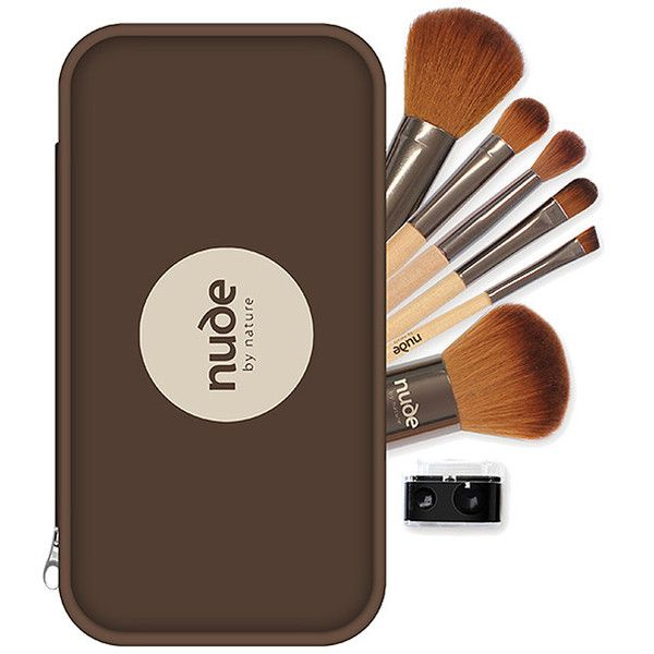 Nude By Nature Professional Brush Kit Target Australia (€14) ❤ liked on Polyvore featuring beauty products, makeup, makeup tools, makeup brushes, travel bag, toiletry bag, lip brush, dopp kit and pencil eyeliner