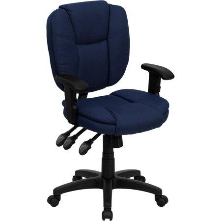 mid back navy blue fabric multifunction ergonomic swivel task chair rh pinterest at
