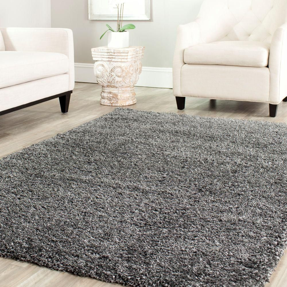 Safavieh California Shag Dark Gray 10 Ft X 13 Ft Area Rug Sg151 8484 10 The Home Depot Grey Shag Rug Rugs In Living Room Rugs