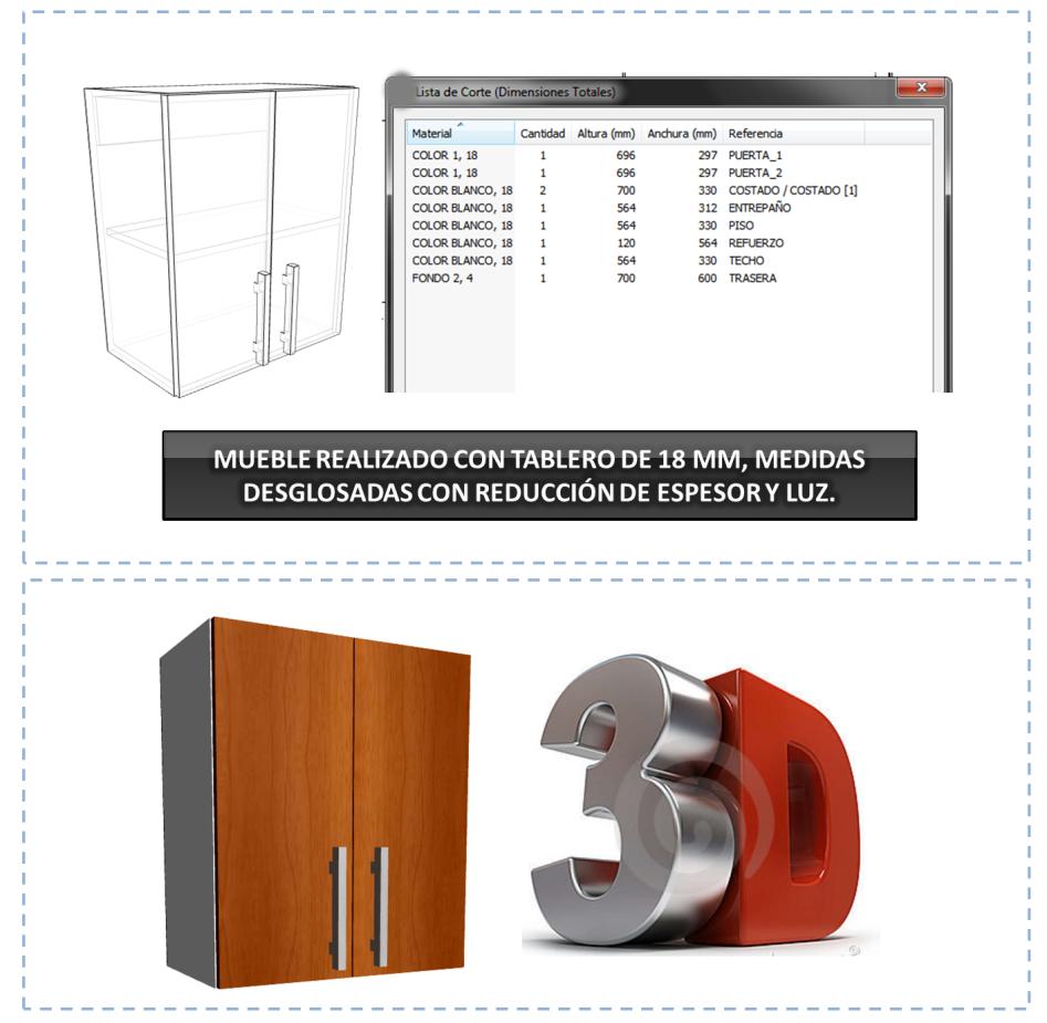 Programa para crear y desglosar muebles cocina y closet for Software diseno muebles gratis