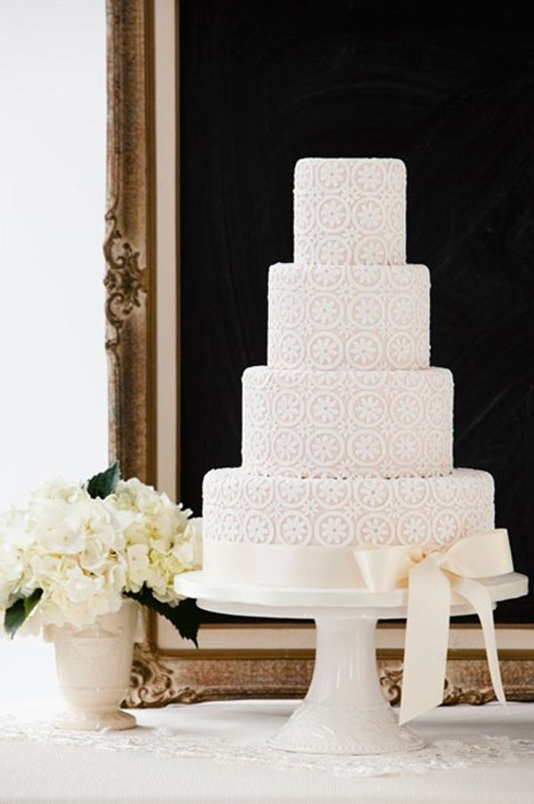 shabby chic bridal shower cakes%0A Modern Vintage Wedding Cakes  Gorgeous pattern