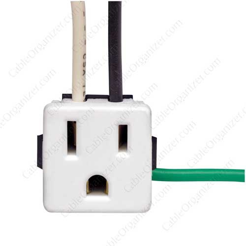 Leviton Snap-In Receptacle, white - icon | Electrical Sockets