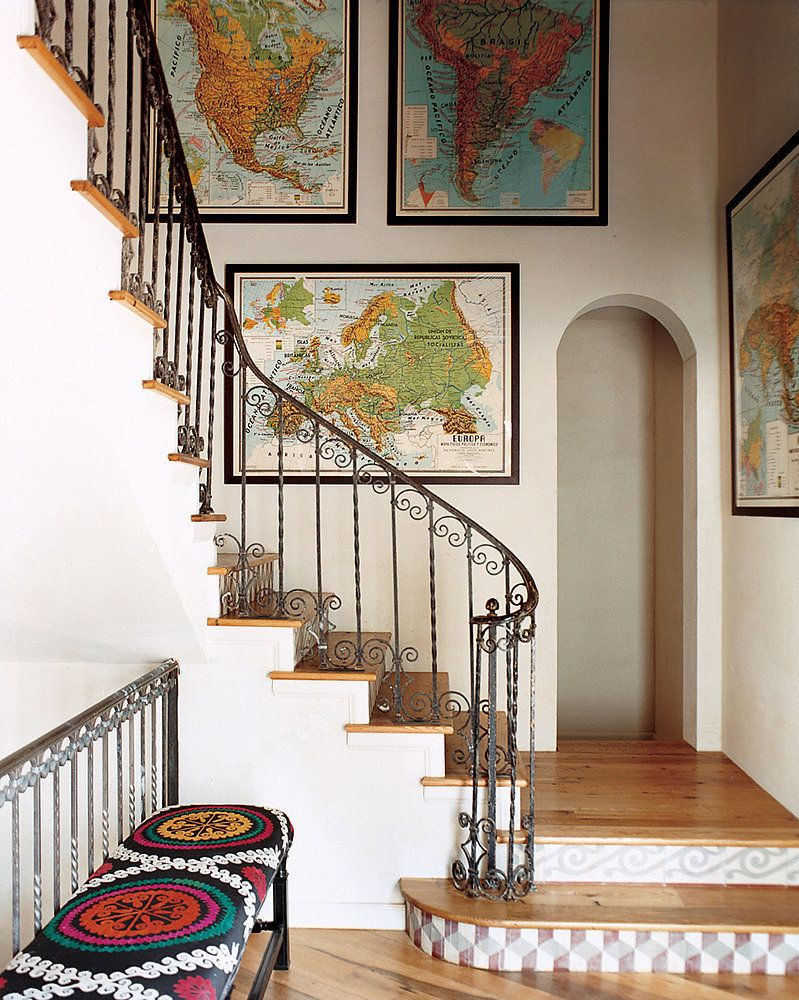 Home interior design maps  unexpected ways to decorate your walls  rooms  pinterest