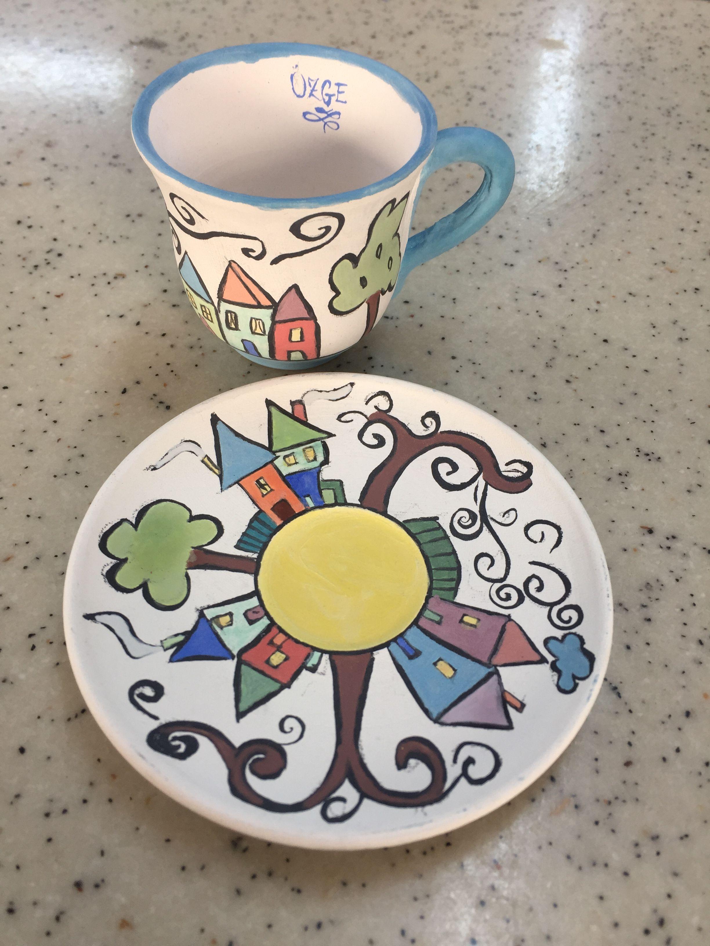 Cheerful Street Coffee Mug By Summer Of Flowers Seramik Fi Ncan Sanat Projeleri