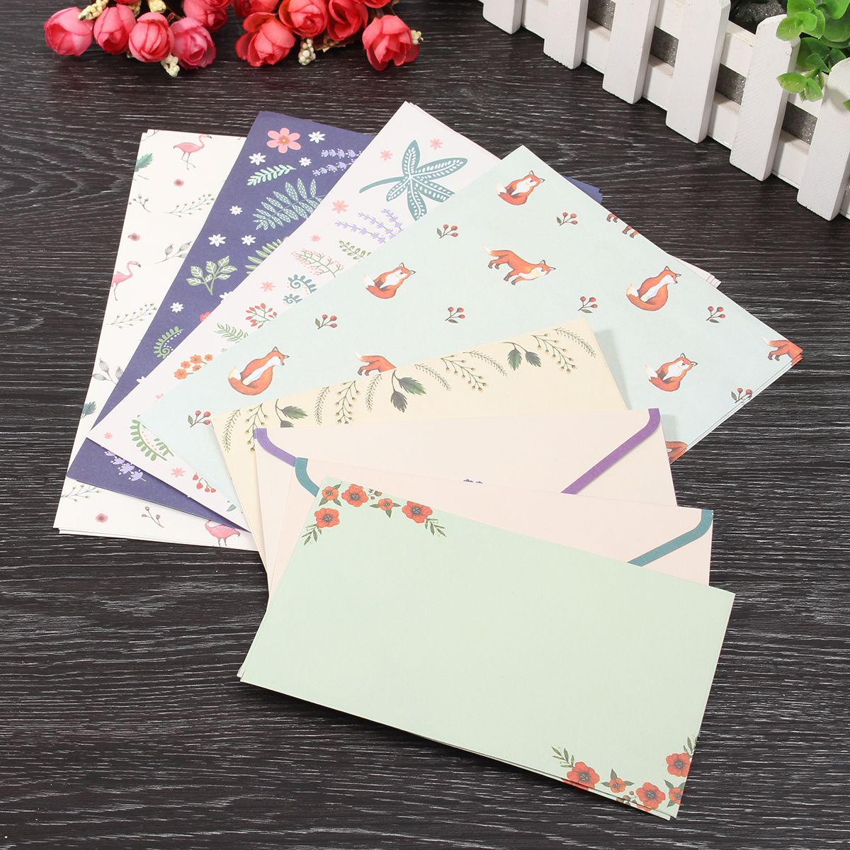 Cute Finely Flower Animal Letter pad Writing