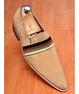 Handmade mens beige suede leather shoes,Men for... - $169.99