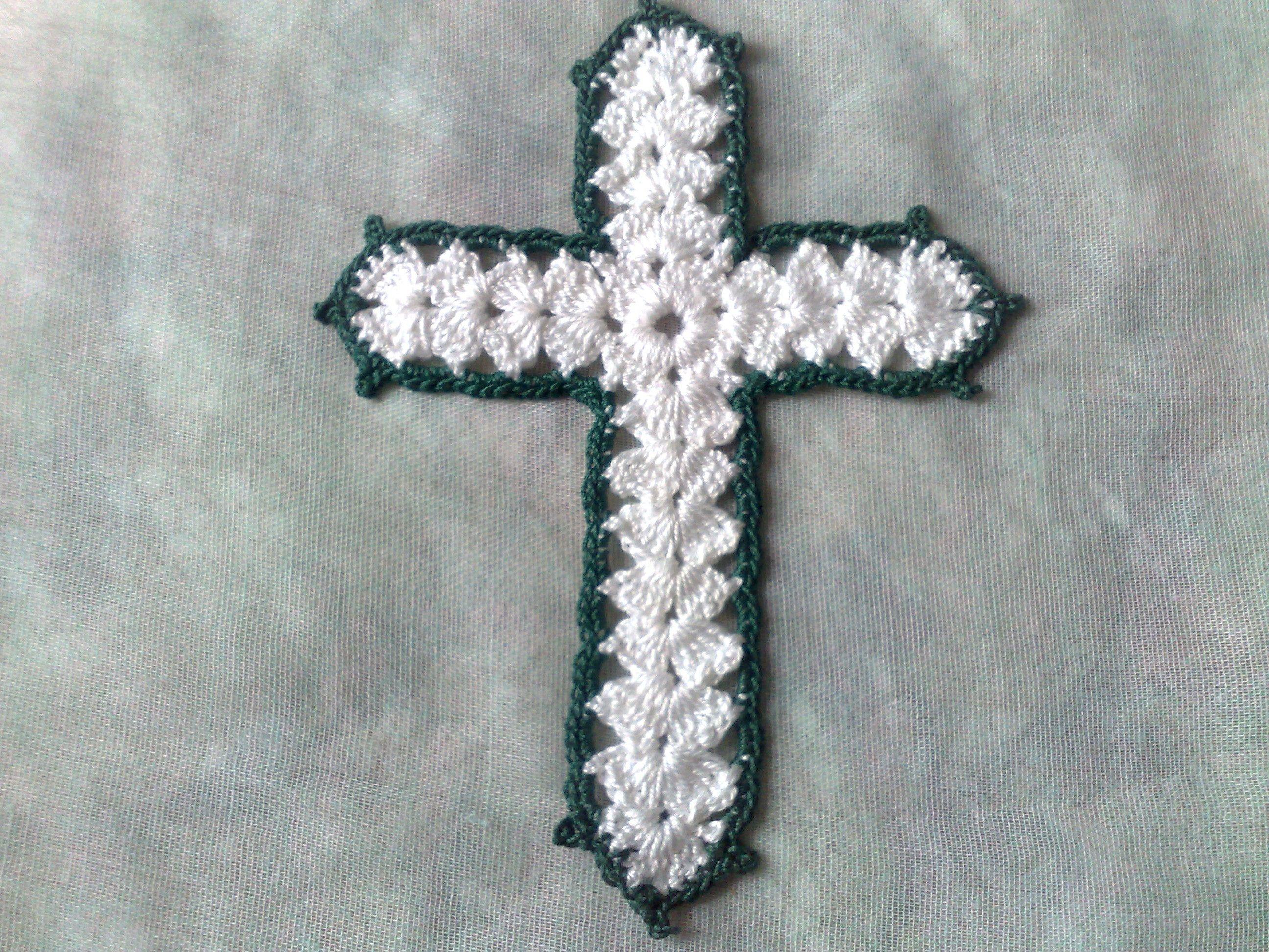 Kreuz Applikation Gehäkeltes Weißes Kreuz Aufnäher Bibel  Lesezeichen Ostern Taufe,Konfirmation