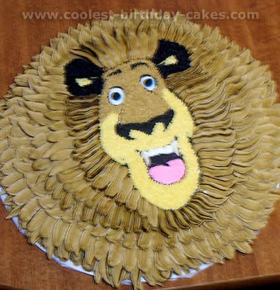 Coolest Alex The Lion Madagascar Animal Birthday Cake Photos And - Lion birthday cake design