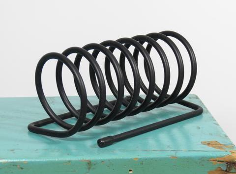 mid century modern metal spring coil round mail holder vintage rh pinterest co uk