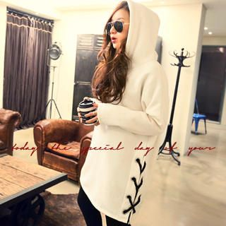 Buy 'NANING9 – Hooded Lace-Down Side Pullover' with Free International Shipping at YesStyle.com. Browse and shop for thousands of Asian fashion items from South Korea and more!