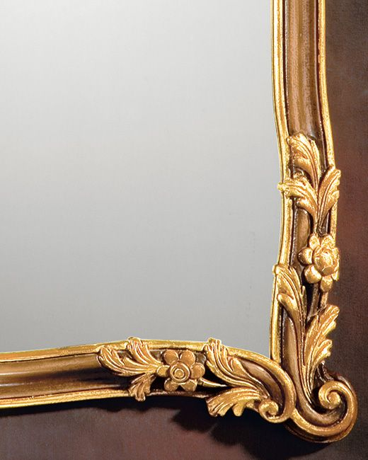 mirror - Tuscan mirror - Tuscan framed mirror in medium brown finish
