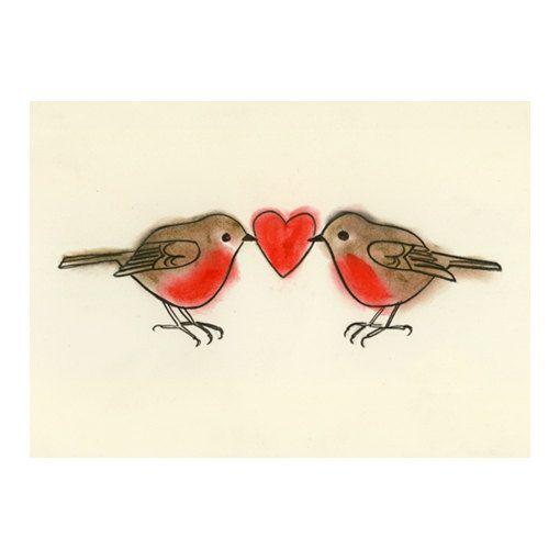 Bird Art print    True Love