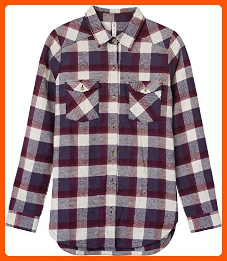 48629e958a5 RVCA Junior s Wanted Plaid Flannel Shirt