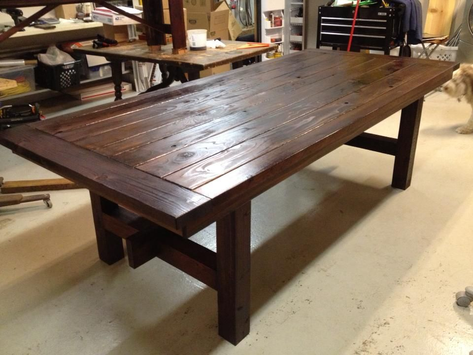New Lumber Dining Table, Stained | For the Home | Pinterest ...