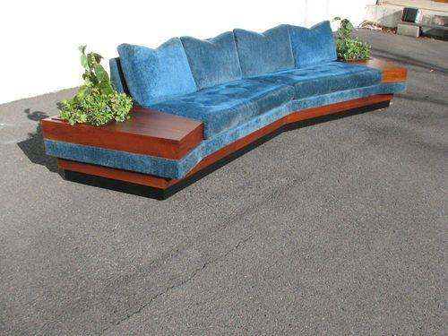 Rare Mid Century Modern Adrian Pearsall Boomerang Sofa W Planter