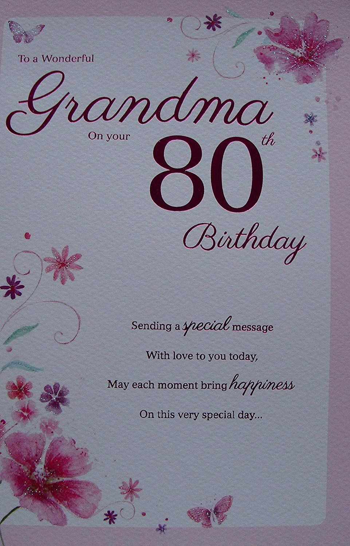 Poem for Grandmas Birthday Awesome 95 80th Birthday Cards