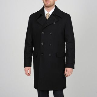 Black Wool Coat Mens | Down Coat