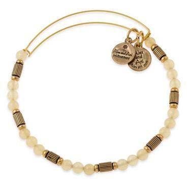 Alex and Ani Lemonade Traveler Beaded Bangle - Rafaelian Gold Finish - Item 19415421 | REEDS Jewelers
