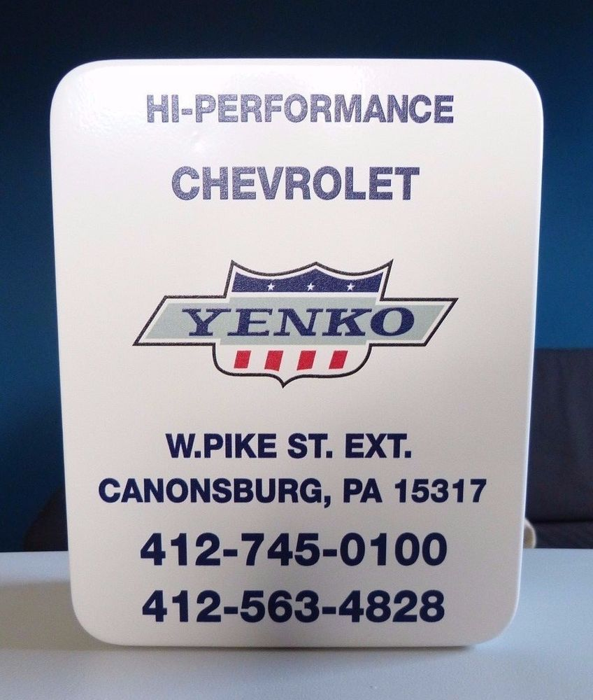 VINTAGE YENKO CHEVROLET GARAGE SIGN KEY LOCK BOX KEYS STORAGE SS CAMARO SS NOVA