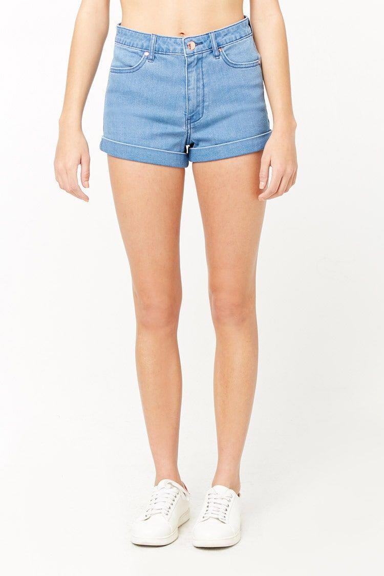 forever 21 high waisted denim shorts