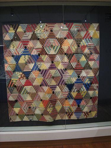 Unusual silk ribbon log cabin quilt.JPG   Flickr - Photo Sharing!