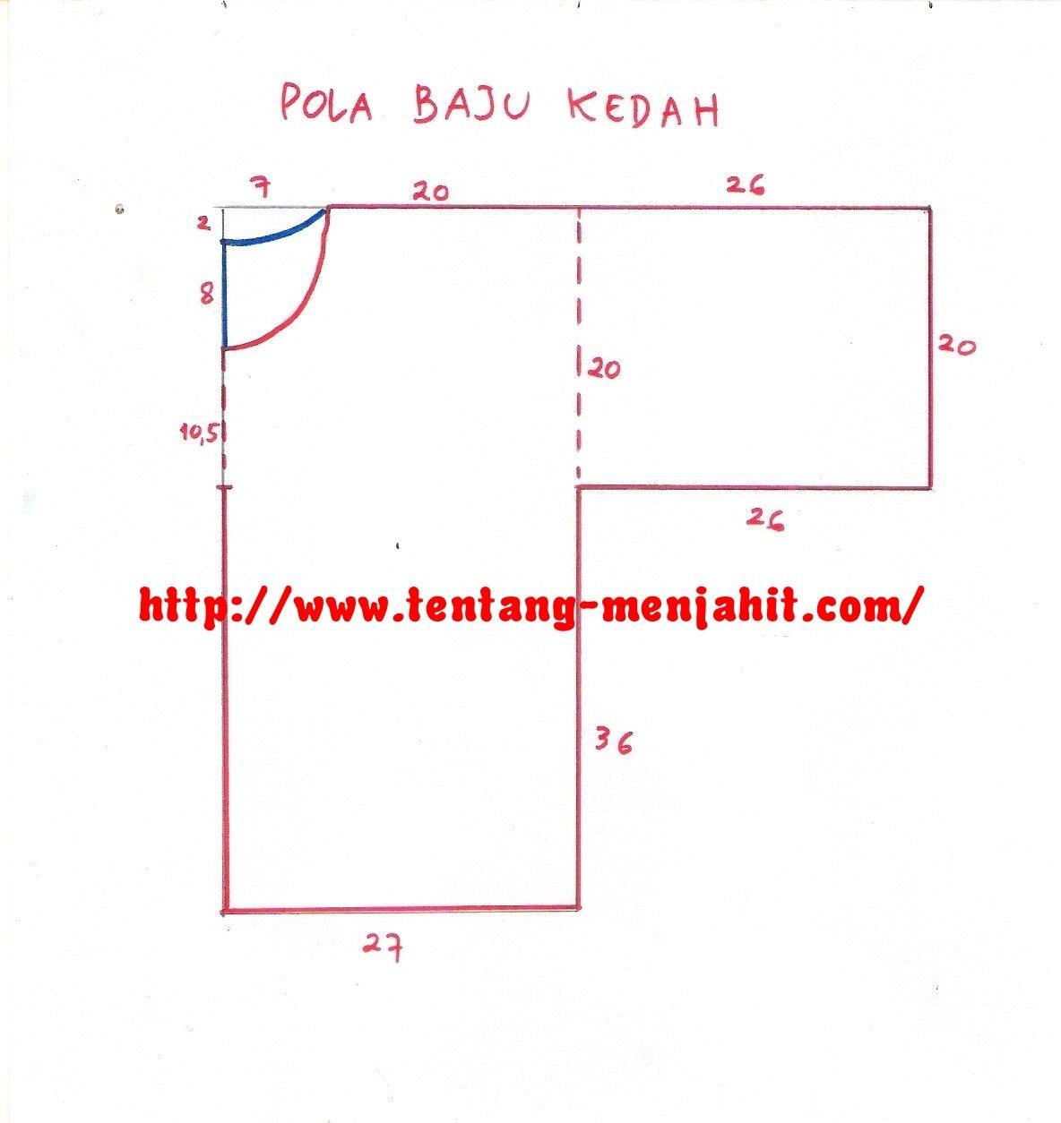 Simplest pattern for baju opah   Pattern baju kurung kedah   Pinterest