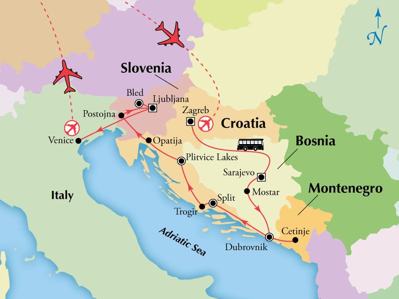 15 Day Croatia Bosnia  Slovenia with Venice  Visit Bled
