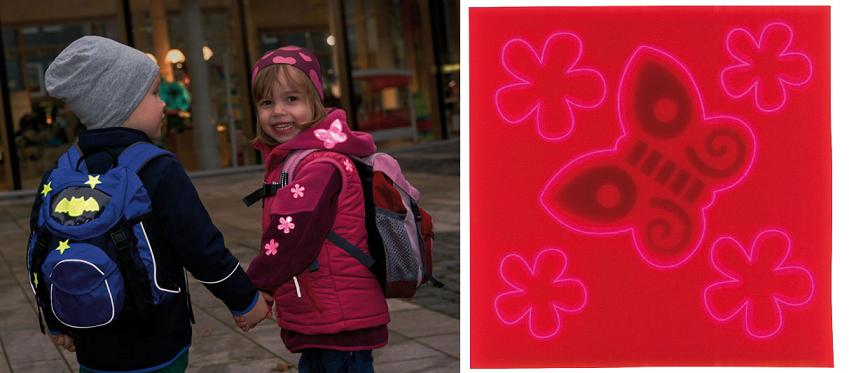 Haba 300457 Reflecterende stickers Vlinder & bloemen roze