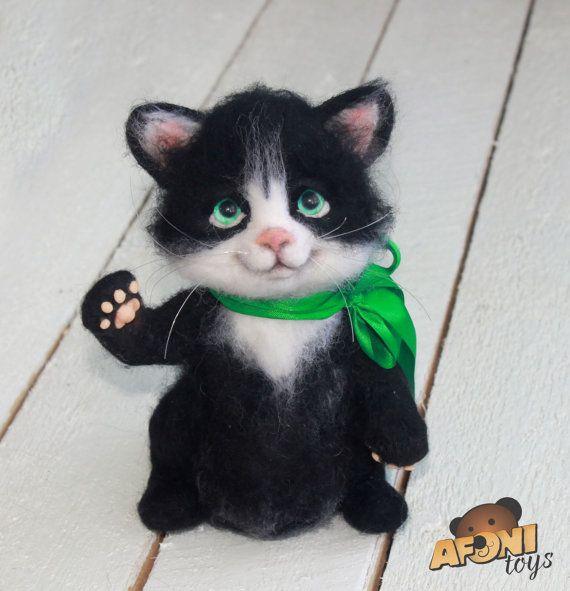 Katze filzen | filzen | Pinterest | Filzen, Katzen und Nadel