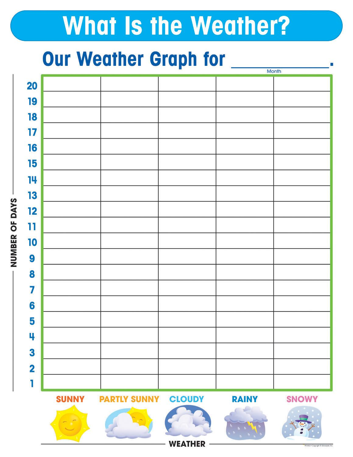 free printable weather graphs for kindergarten